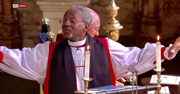 Michael Curry at St George's Windsor for the Royal Wedding